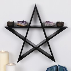 Wiccan Shelf PENTAGRAM Wall...